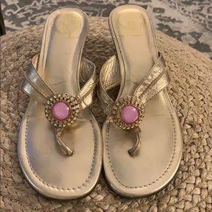 Lilly Pulitzer's McKim wedge heels size 8.5